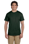 Fruit Of The Loom 3931 Mens HD Jersey Short Sleeve Crewneck T-Shirt Forest Green Front