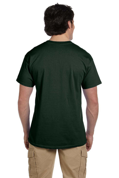 Fruit Of The Loom 3931 Mens HD Jersey Short Sleeve Crewneck T-Shirt Forest Green Back