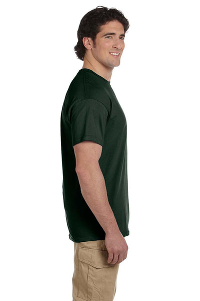 Fruit Of The Loom 3931 Mens HD Jersey Short Sleeve Crewneck T-Shirt Forest Green Side