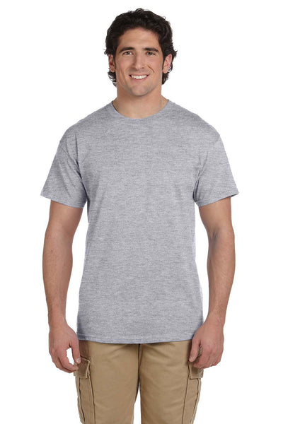 Fruit Of The Loom 3931 Mens HD Jersey Short Sleeve Crewneck T-Shirt Heather Grey Front