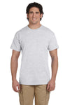 Fruit Of The Loom 3931 Mens HD Jersey Short Sleeve Crewneck T-Shirt Ash Grey Front
