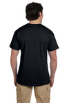 Fruit Of The Loom 3931 Mens HD Jersey Short Sleeve Crewneck T-Shirt Black Back