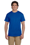 Fruit Of The Loom 3931 Mens HD Jersey Short Sleeve Crewneck T-Shirt Royal Blue Front