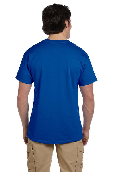 Fruit Of The Loom 3931 Mens HD Jersey Short Sleeve Crewneck T-Shirt Royal Blue Back