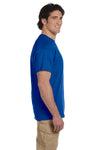 Fruit Of The Loom 3931 Mens HD Jersey Short Sleeve Crewneck T-Shirt Royal Blue Side