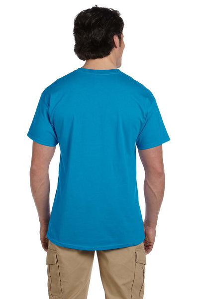 Fruit Of The Loom 3931 Mens HD Jersey Short Sleeve Crewneck T-Shirt Pacific Blue Back