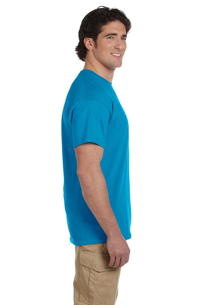 Fruit Of The Loom 3931 Mens HD Jersey Short Sleeve Crewneck T-Shirt Pacific Blue Side