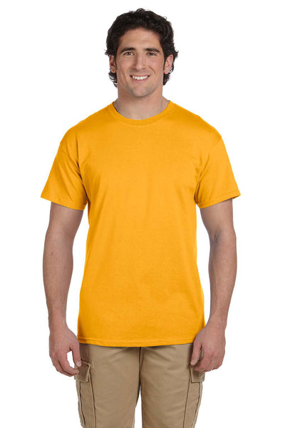Fruit Of The Loom 3931 Mens HD Jersey Short Sleeve Crewneck T-Shirt Gold Front