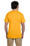 Fruit Of The Loom 3931 Mens HD Jersey Short Sleeve Crewneck T-Shirt Gold Back