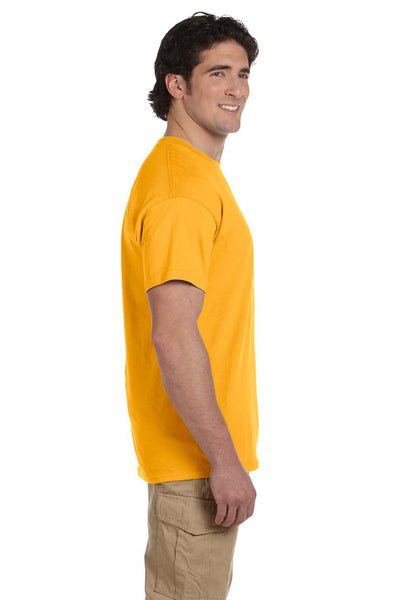 Fruit Of The Loom 3931 Mens HD Jersey Short Sleeve Crewneck T-Shirt Gold Side