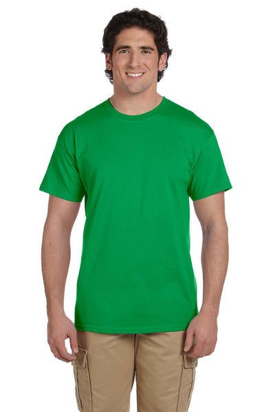 Fruit Of The Loom 3931 Mens HD Jersey Short Sleeve Crewneck T-Shirt Kelly Green Front