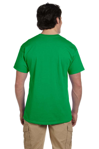 Fruit Of The Loom 3931 Mens HD Jersey Short Sleeve Crewneck T-Shirt Kelly Green Back