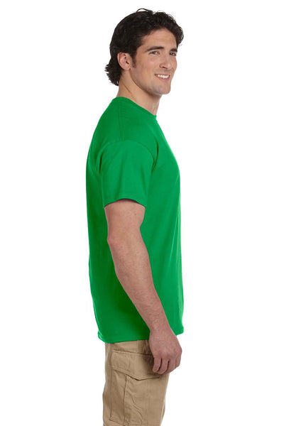 Fruit Of The Loom 3931 Mens HD Jersey Short Sleeve Crewneck T-Shirt Kelly Green Side