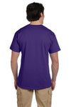 Fruit Of The Loom 3931 Mens HD Jersey Short Sleeve Crewneck T-Shirt Purple Back
