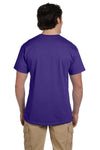 Fruit Of The Loom 3931 Mens HD Jersey Short Sleeve Crewneck T-Shirt Deep Purple Back