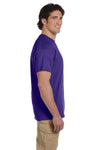 Fruit Of The Loom 3931 Mens HD Jersey Short Sleeve Crewneck T-Shirt Deep Purple Side