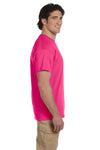 Fruit Of The Loom 3931 Mens HD Jersey Short Sleeve Crewneck T-Shirt Cyber Pink Side