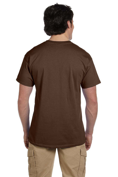 Fruit Of The Loom 3931 Mens HD Jersey Short Sleeve Crewneck T-Shirt Chocolate Brown Back