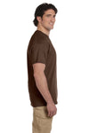 Fruit Of The Loom 3931 Mens HD Jersey Short Sleeve Crewneck T-Shirt Chocolate Brown Side