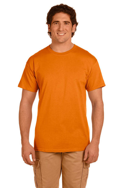 Fruit Of The Loom 3931 Mens HD Jersey Short Sleeve Crewneck T-Shirt Tennessee Orange Front