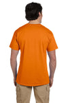 Fruit Of The Loom 3931 Mens HD Jersey Short Sleeve Crewneck T-Shirt Tennessee Orange Back