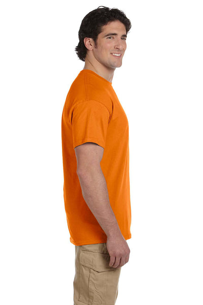 Fruit Of The Loom 3931 Mens HD Jersey Short Sleeve Crewneck T-Shirt Tennessee Orange Side