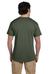 Fruit Of The Loom 3931 Mens HD Jersey Short Sleeve Crewneck T-Shirt Military Green Back