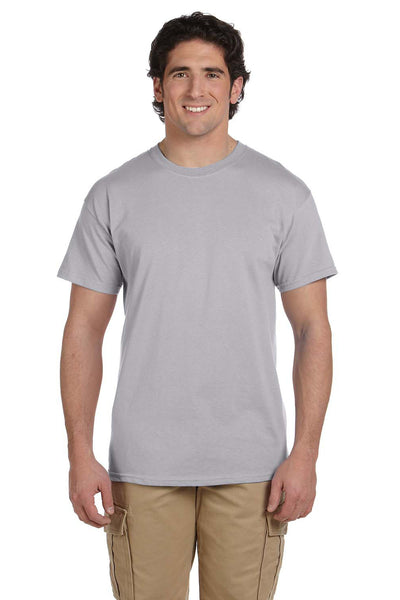 Fruit Of The Loom 3931 Mens HD Jersey Short Sleeve Crewneck T-Shirt Silver Grey Front