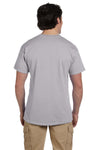 Fruit Of The Loom 3931 Mens HD Jersey Short Sleeve Crewneck T-Shirt Silver Grey Back
