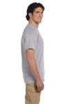Fruit Of The Loom 3931 Mens HD Jersey Short Sleeve Crewneck T-Shirt Silver Grey Side