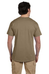 Fruit Of The Loom 3931 Mens HD Jersey Short Sleeve Crewneck T-Shirt Safari Brown Back