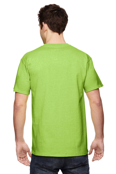 Fruit Of The Loom 3931 Mens HD Jersey Short Sleeve Crewneck T-Shirt Neon Green Back