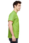 Fruit Of The Loom 3931 Mens HD Jersey Short Sleeve Crewneck T-Shirt Neon Green Side