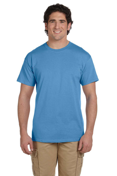 Fruit Of The Loom 3931 Mens HD Jersey Short Sleeve Crewneck T-Shirt Columbia Blue Front