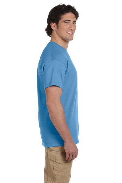 Fruit Of The Loom 3931 Mens HD Jersey Short Sleeve Crewneck T-Shirt Columbia Blue Side