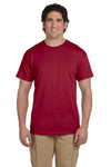 Fruit Of The Loom 3931 Mens HD Jersey Short Sleeve Crewneck T-Shirt Cardinal Red Front
