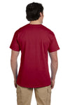 Fruit Of The Loom 3931 Mens HD Jersey Short Sleeve Crewneck T-Shirt Cardinal Red Back
