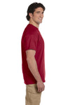 Fruit Of The Loom 3931 Mens HD Jersey Short Sleeve Crewneck T-Shirt Cardinal Red Side