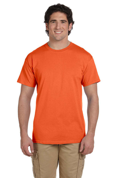 Fruit Of The Loom 3931 Mens HD Jersey Short Sleeve Crewneck T-Shirt Burnt Orange Front