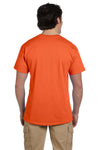 Fruit Of The Loom 3931 Mens HD Jersey Short Sleeve Crewneck T-Shirt Burnt Orange Back