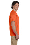 Fruit Of The Loom 3931 Mens HD Jersey Short Sleeve Crewneck T-Shirt Burnt Orange Side