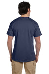 Fruit Of The Loom 3931 Mens HD Jersey Short Sleeve Crewneck T-Shirt Denim Blue Back