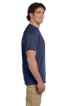 Fruit Of The Loom 3931 Mens HD Jersey Short Sleeve Crewneck T-Shirt Denim Blue Side