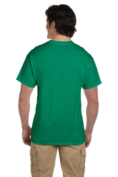 Fruit Of The Loom 3931 Mens HD Jersey Short Sleeve Crewneck T-Shirt Heather Green Back