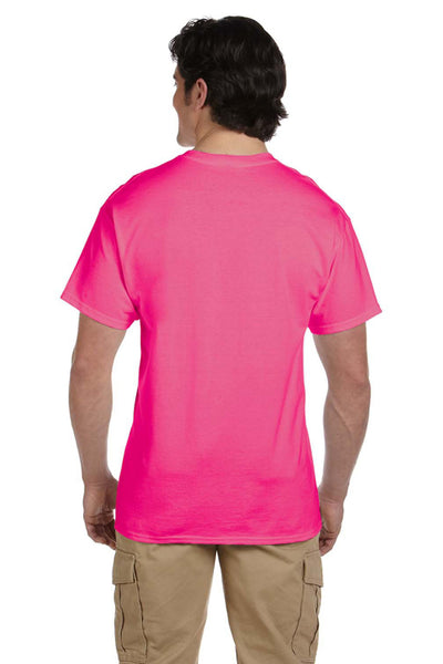 Fruit Of The Loom 3931 Mens HD Jersey Short Sleeve Crewneck T-Shirt Heather Pink Back