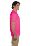 Fruit Of The Loom 3931 Mens HD Jersey Short Sleeve Crewneck T-Shirt Heather Pink Side