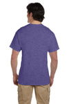 Fruit Of The Loom 3931 Mens HD Jersey Short Sleeve Crewneck T-Shirt Heather Purple Back