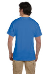 Fruit Of The Loom 3931 Mens HD Jersey Short Sleeve Crewneck T-Shirt Heather Royal Blue Back