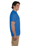 Fruit Of The Loom 3931 Mens HD Jersey Short Sleeve Crewneck T-Shirt Heather Royal Blue Side
