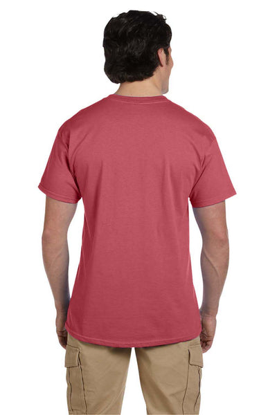 Fruit Of The Loom 3931 Mens HD Jersey Short Sleeve Crewneck T-Shirt Crimson Red Back